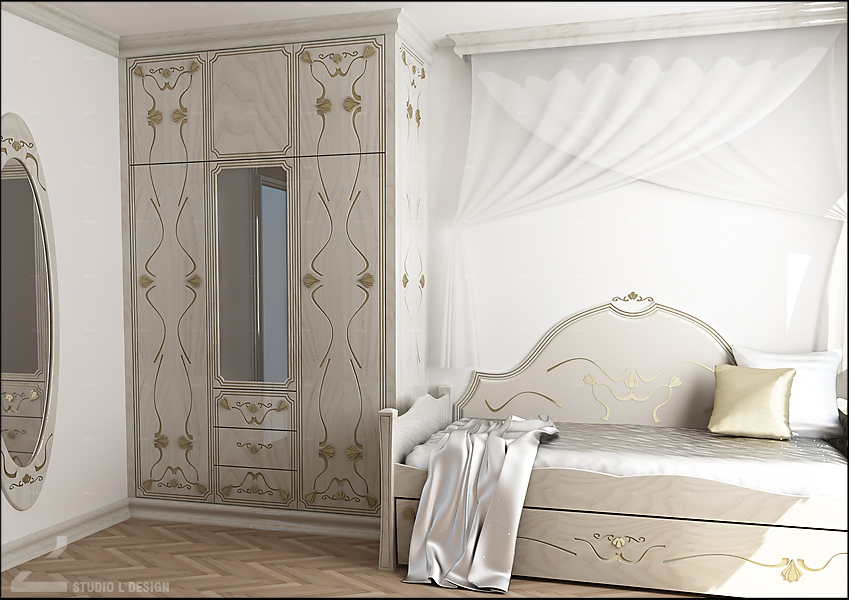 Princess bedroom interior design