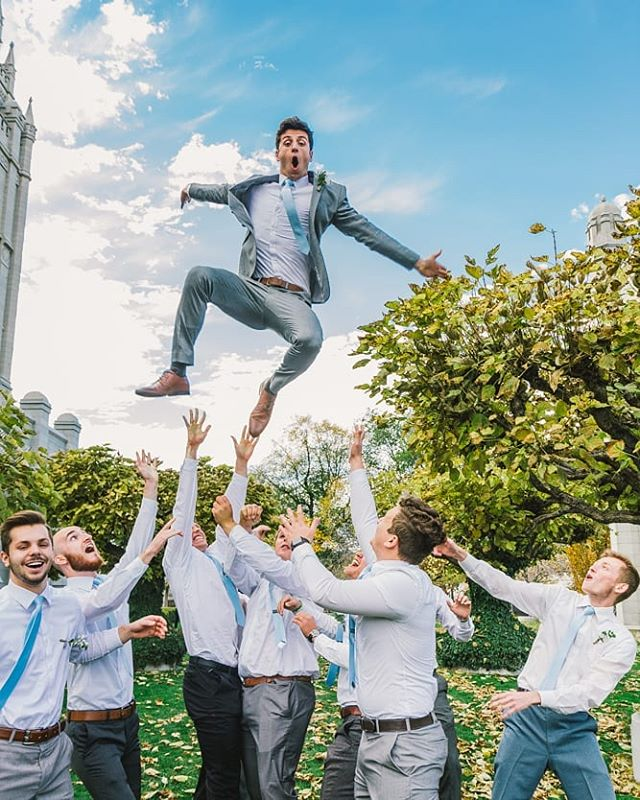 He was so happy to be married I think we could have thrown him in the air all day! 😂