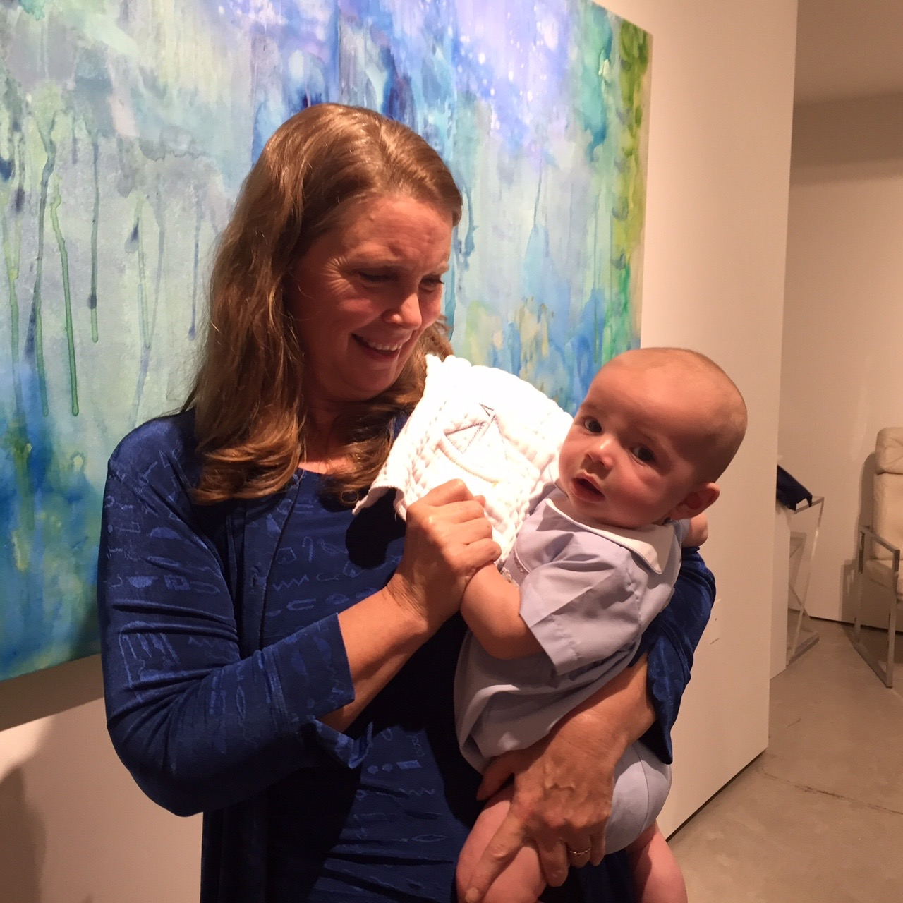 Grandson Charlie making an appearance at Octavia Gallery opening.