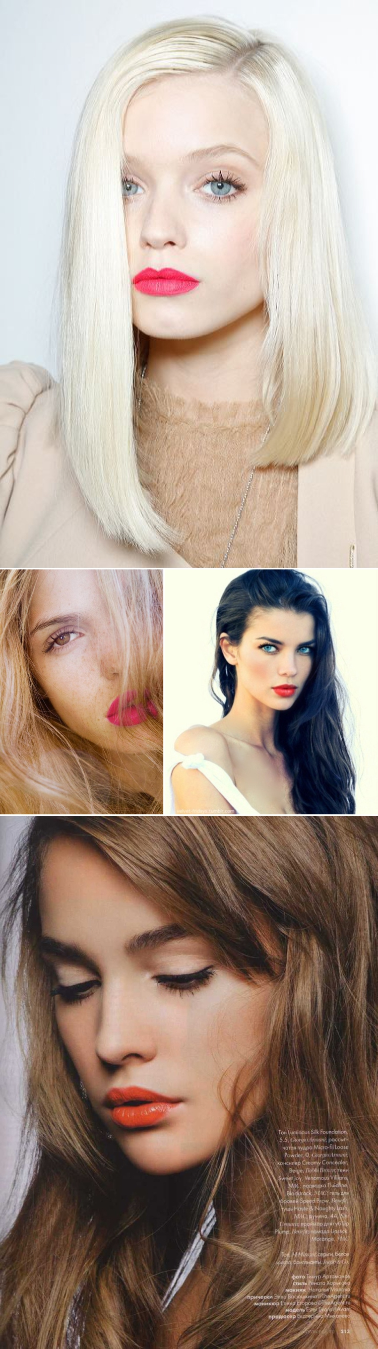 image of 2014 bright lip beauty trend