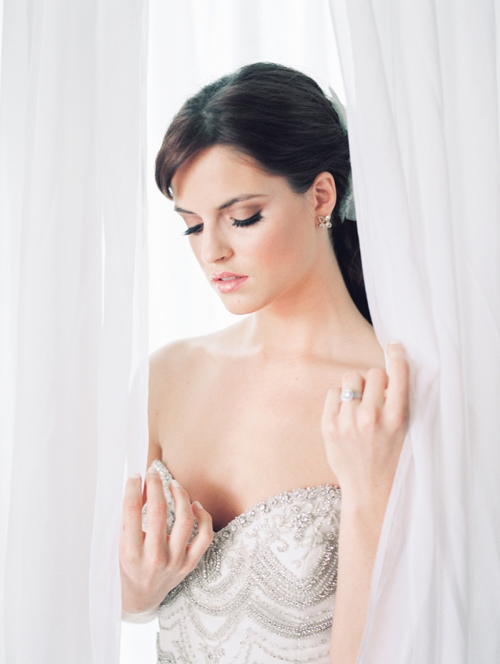 Enaura Gown - Patsy's Bridal Boutique | Ring - Avior Jewelry  | Earrings -Kendra Scott