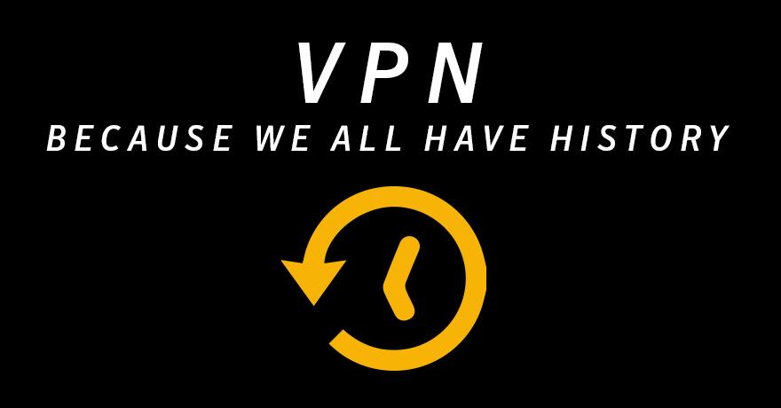 VPN hides history