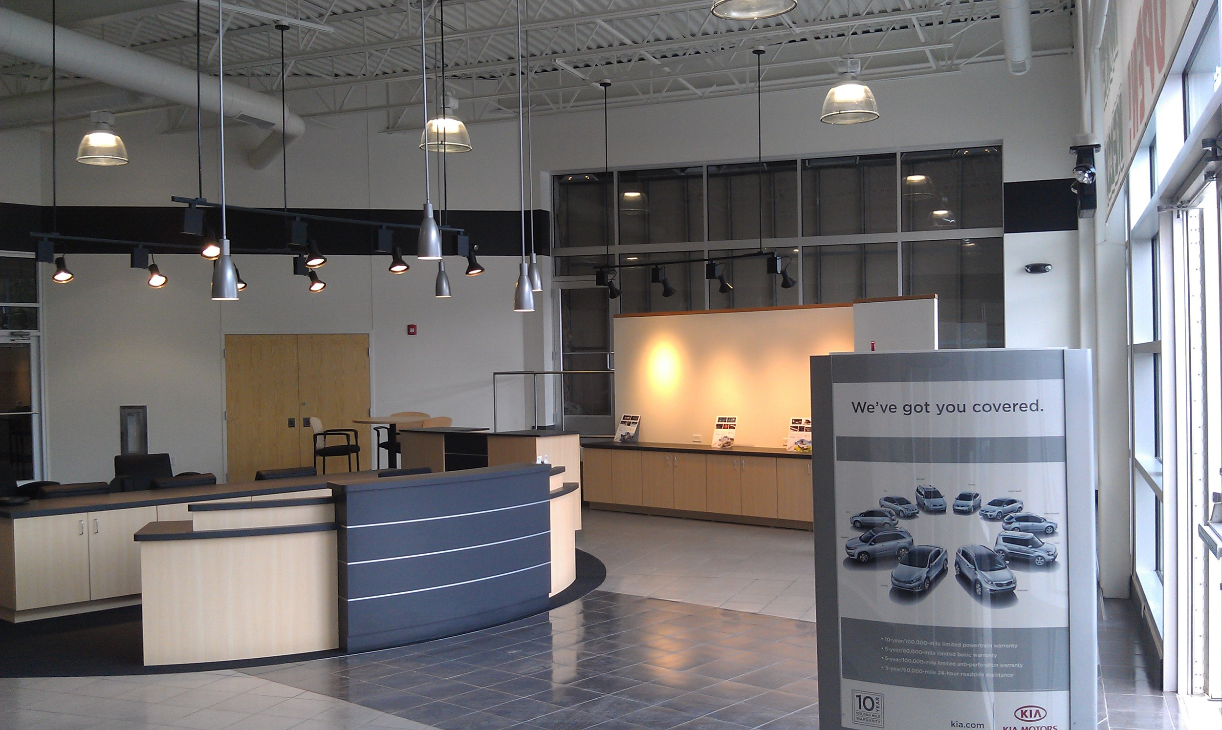 Kelly Kia Dealership (interior), Butler, PA