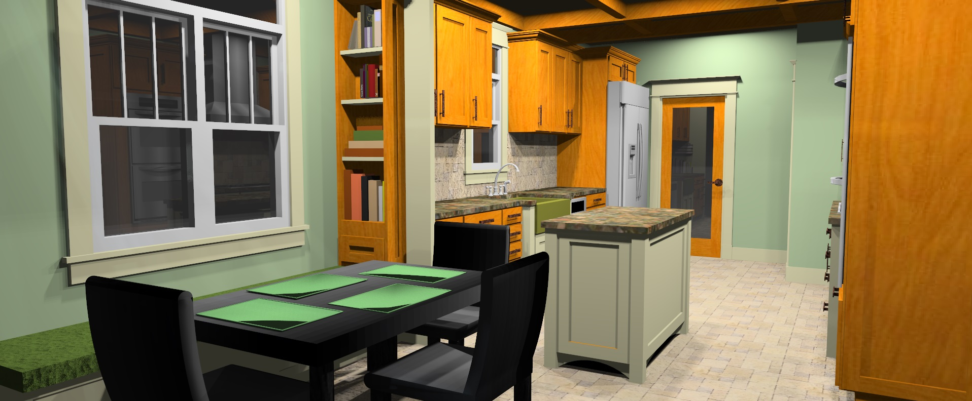 Townhouse Kitchen Rendering