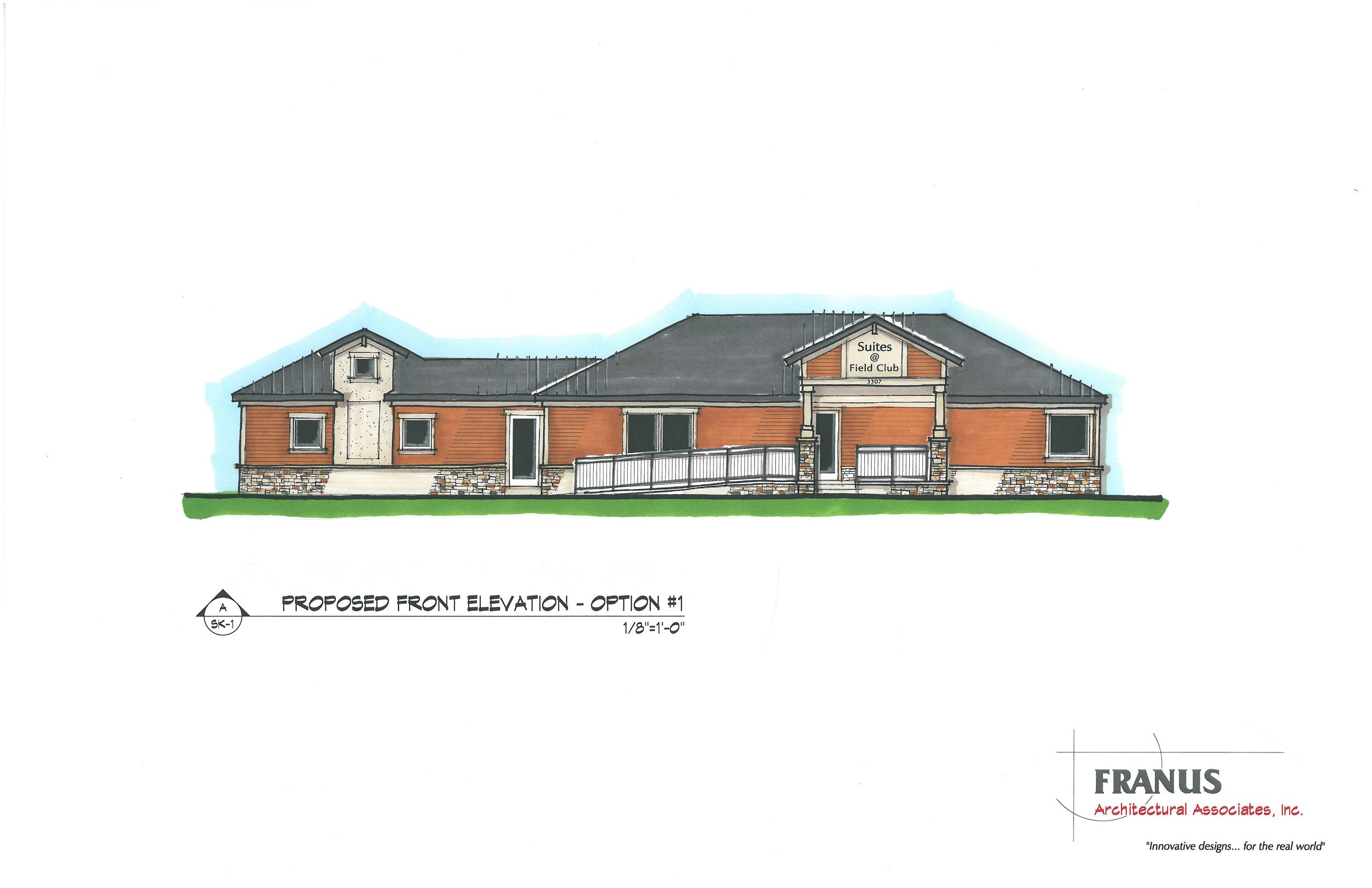 Commercial office building rendering