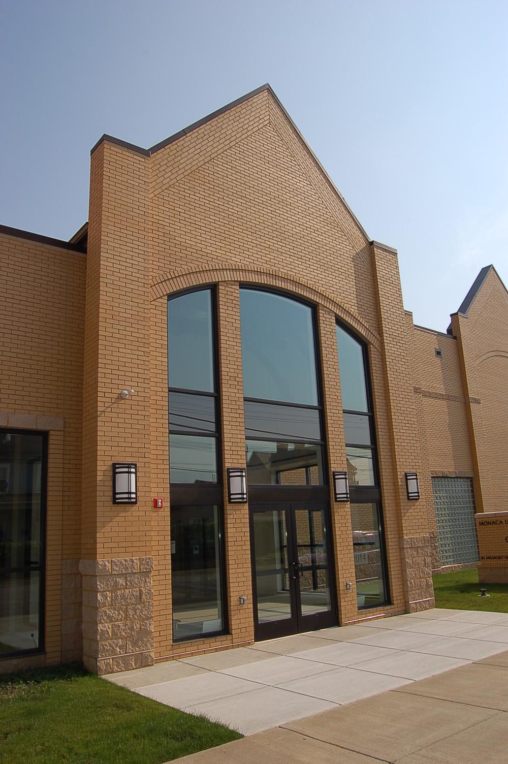 Front entrance of Carey Community Center