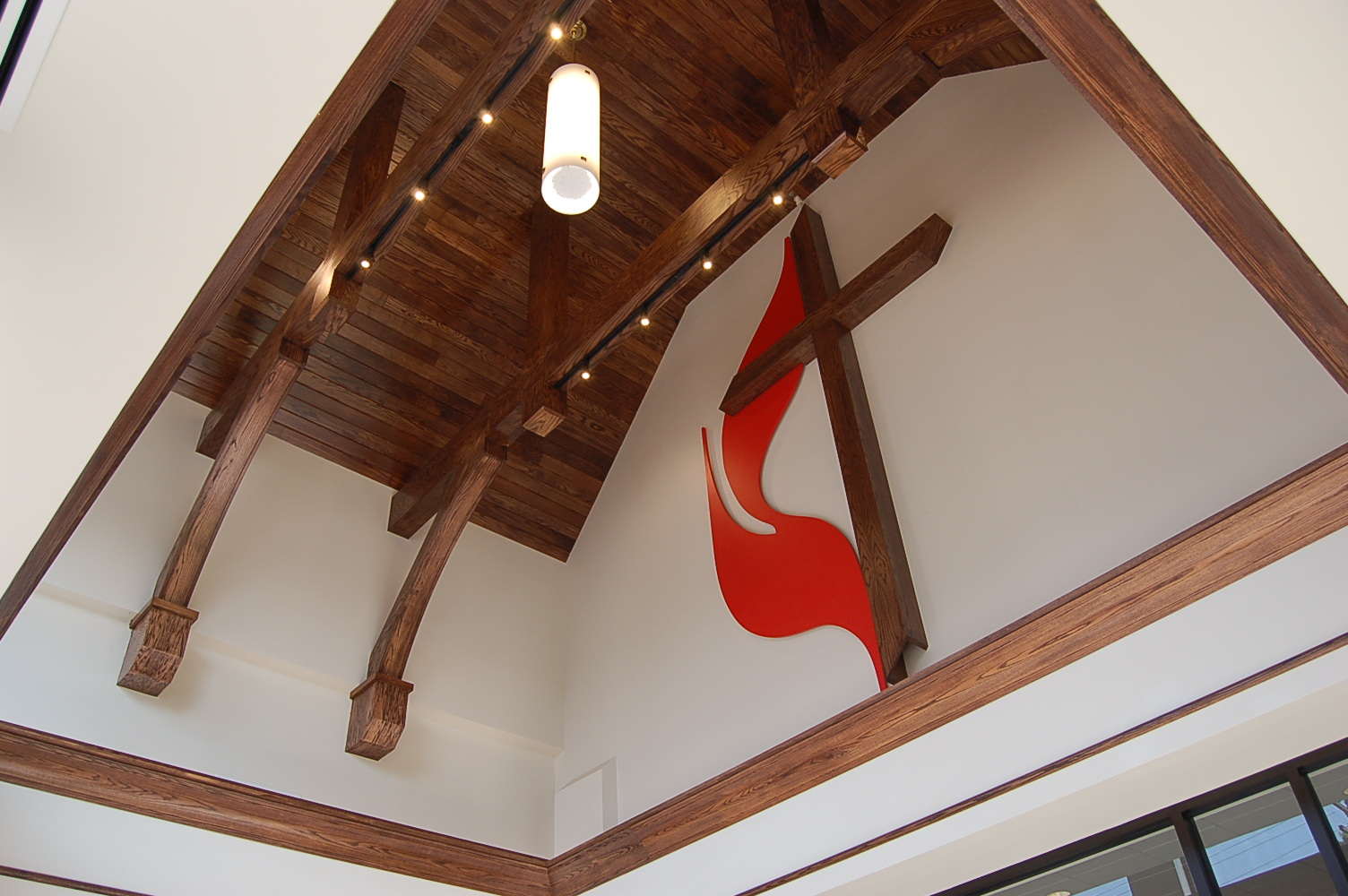 Methodist Cross and Flame