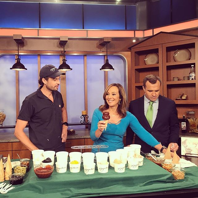 @nicholasmorgenstern talking 🍦 @morgensternsnyc 🍦on @fox5ny #GoodDayNY with @rosannascotto & Greg Kelly