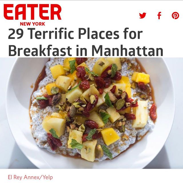 Looking for terrific breakfast in Manhattan? @eater_ny recommends #ElReyAnnex 🙌🏼