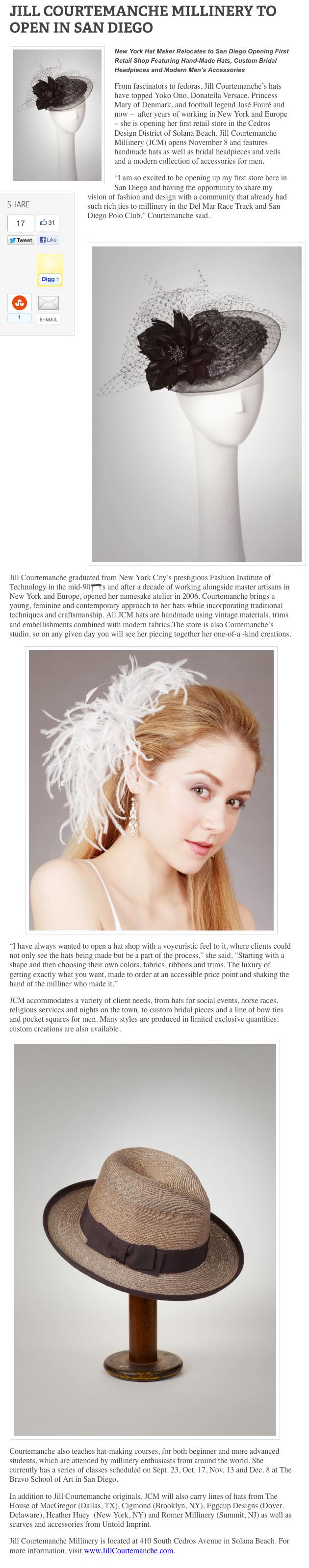 The LA Fashion Magazine  / October 2012