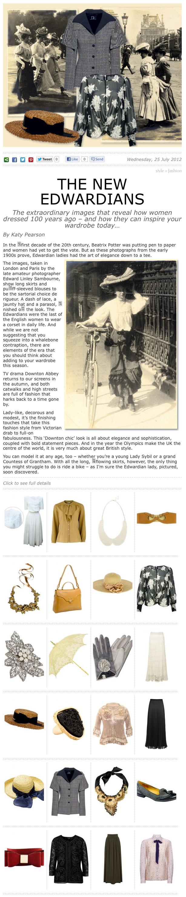 The Lady Magazine / July 2012