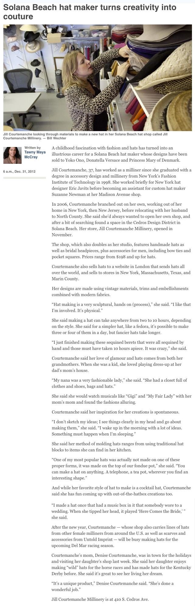 Union Tribune  / December 2012