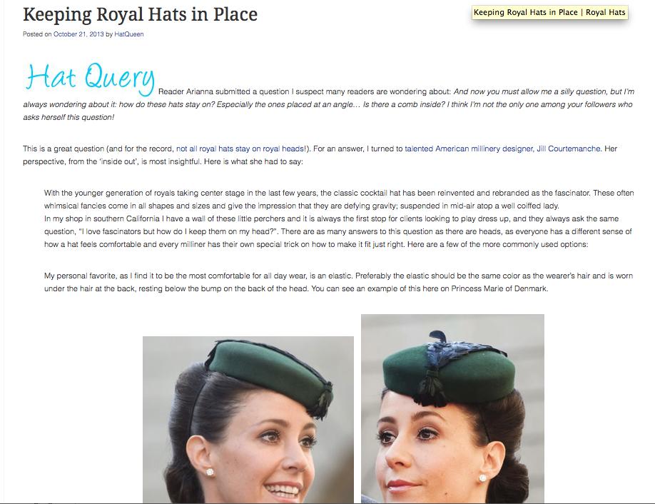 The Royal Hats Blog  / October 2013