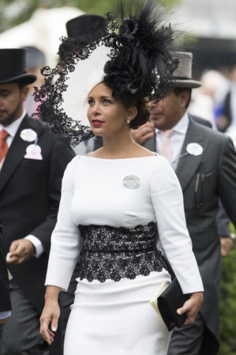 Princess Haya Bint Al Hussein, Princess of Jordan, Sheikha of Dubai on Day 3 of Royal Ascot
