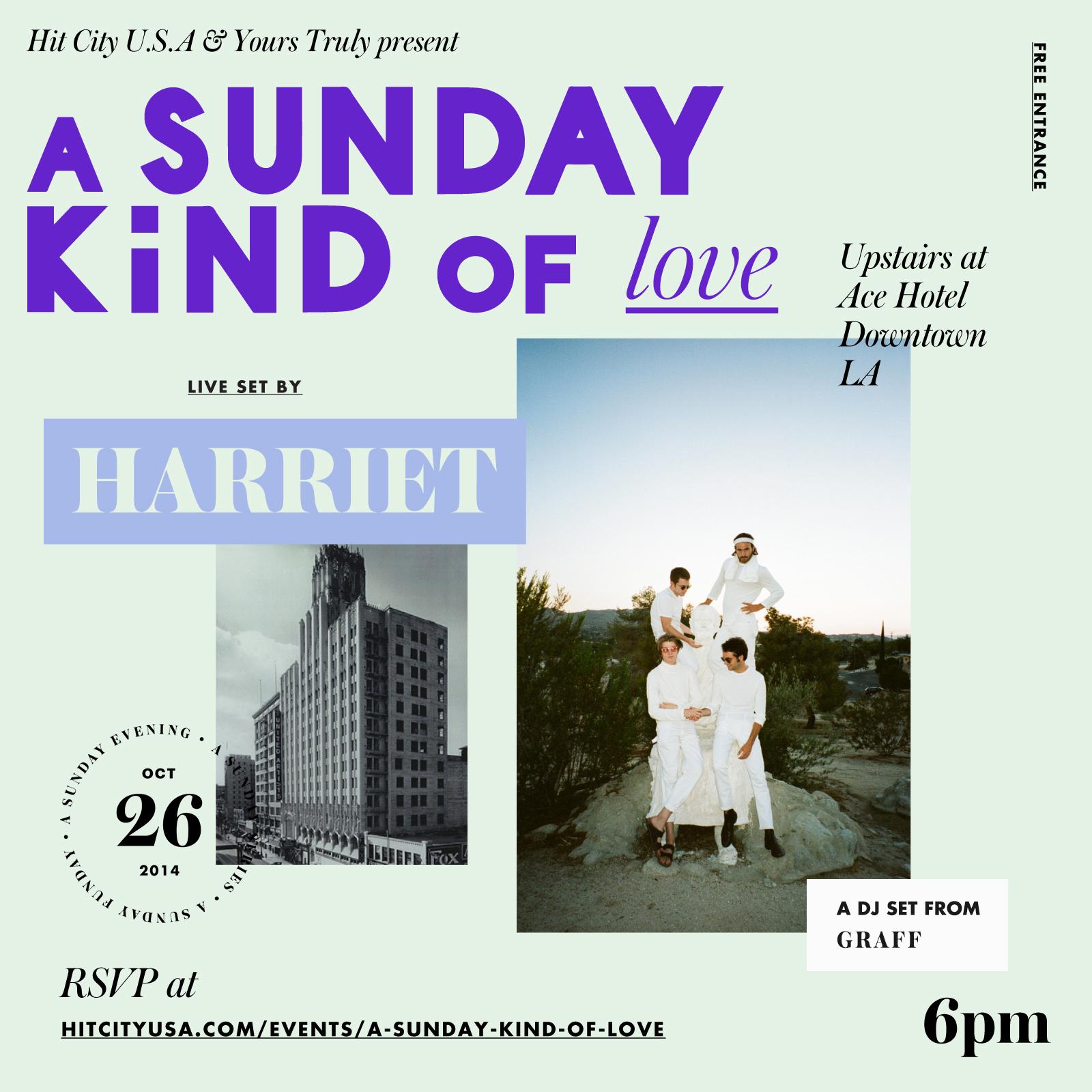 A Sunday Kind of Love w/ Harriet & Graff