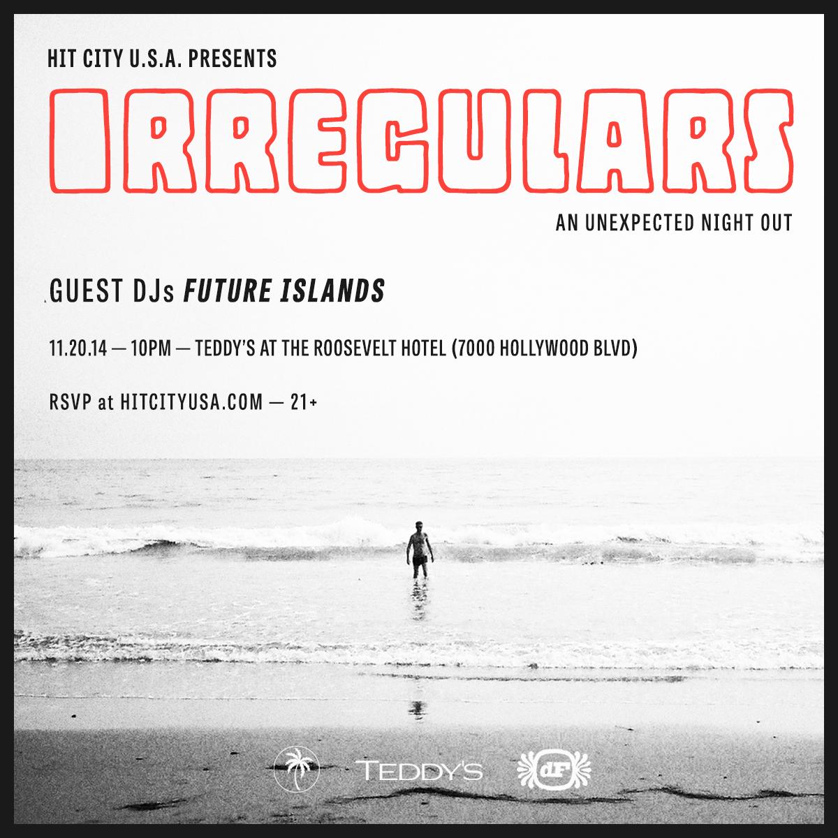 Irregulars w/ Future Islands & Cooper Saver