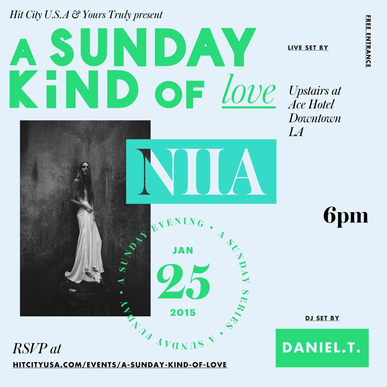 A Sunday Kind of Love w/ NIIA