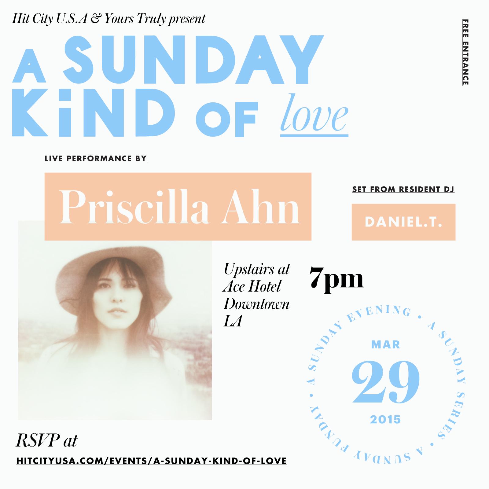 A Sunday Kind o    f Love w/ Priscilla Ahn