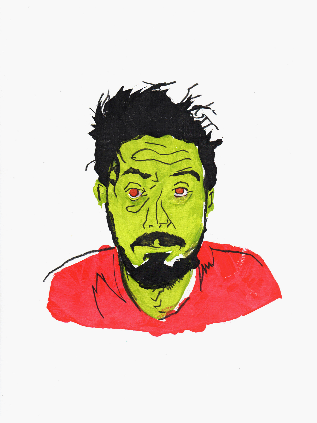 """""""Mark"""" —Mark is a painter who works pretty much non-stop.I tried to capture a little bit of that vibe,dude looks existentially tired"""