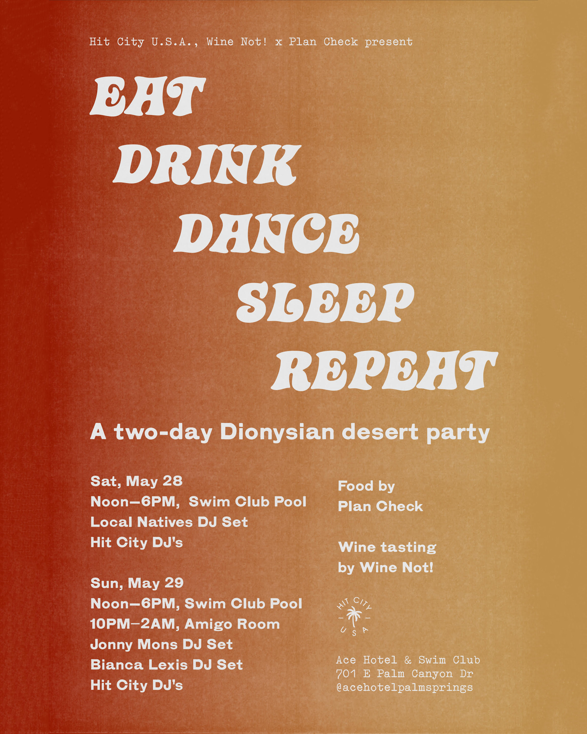 Local Natives (DJ Set) at Ace Palm Springs