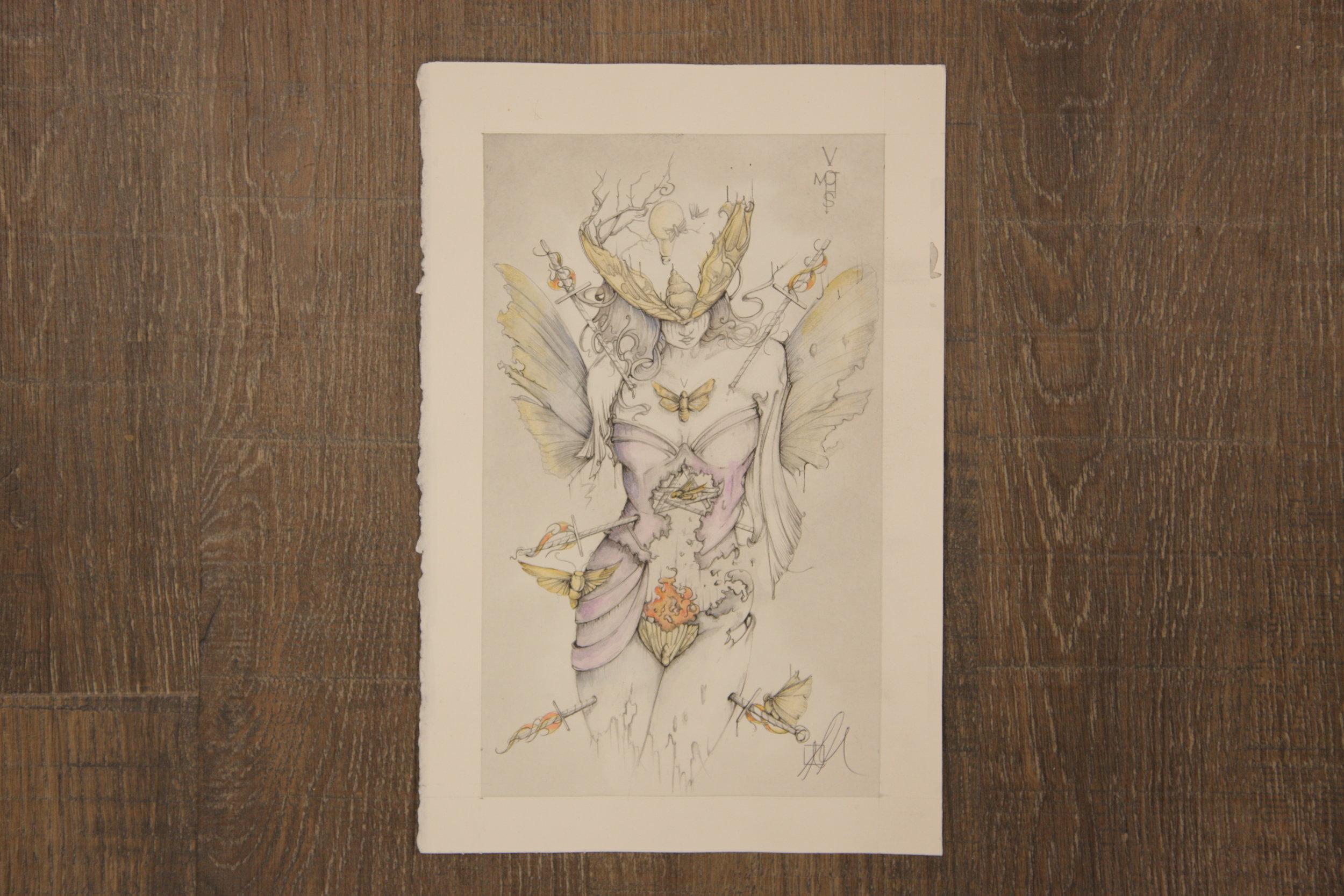 Five of Moths