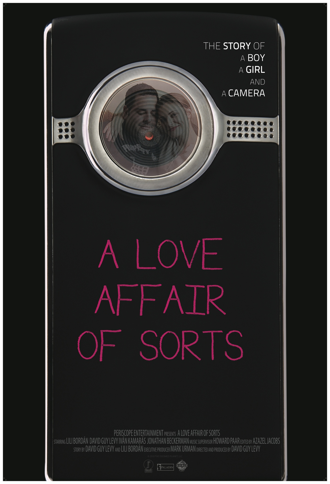 A LOVE AFFAIR OF SORTS (2011) - Blurring the edges between reality and fiction, and in an era where we all live in public to a certain extent, A LOVE AFFAIR OF SORTS is a modern twist on a love affair in the digital age. The first feature film to be shot entirely on a flip camera, its narrative follows two lonely strangers in modern day Los Angeles, during the holiday season. The film begins with David, a painter, and Enci, a Hungarian nanny, who meet in a bookstore when he catches her shoplifting on his ever-present flip camera. As they start a tentative relationship, he captures it all on his digital camera, though nothing about the situation is as straightforward as it seems. Things are complicated further with the addition of Enci's boyfriend, Boris (Ivan Kamaras), and David's brutally honest friend, Jonathan. Chronicling the couple's desire to be constantly filmed, and their need to really connect in the lonely landscape of Los Angeles at Christmastime, A LOVE AFFAIR OF SORTS takes a wry look at the way technology brings us together while also keeping us at a distance, and how it may have changed what it is to love and be loved.