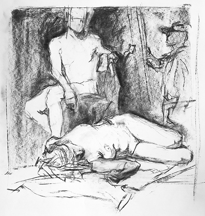 """30 Minute Figure Drawing"" - 11"" x 15"" charcoal on paper, from life. 2014"