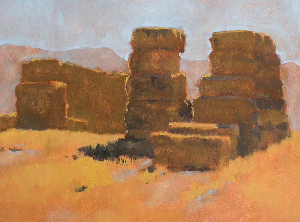 """Idaho Rests"" - 9"" x 11"" oil on primed paper. 2016. Created on a painting road trip across the US."