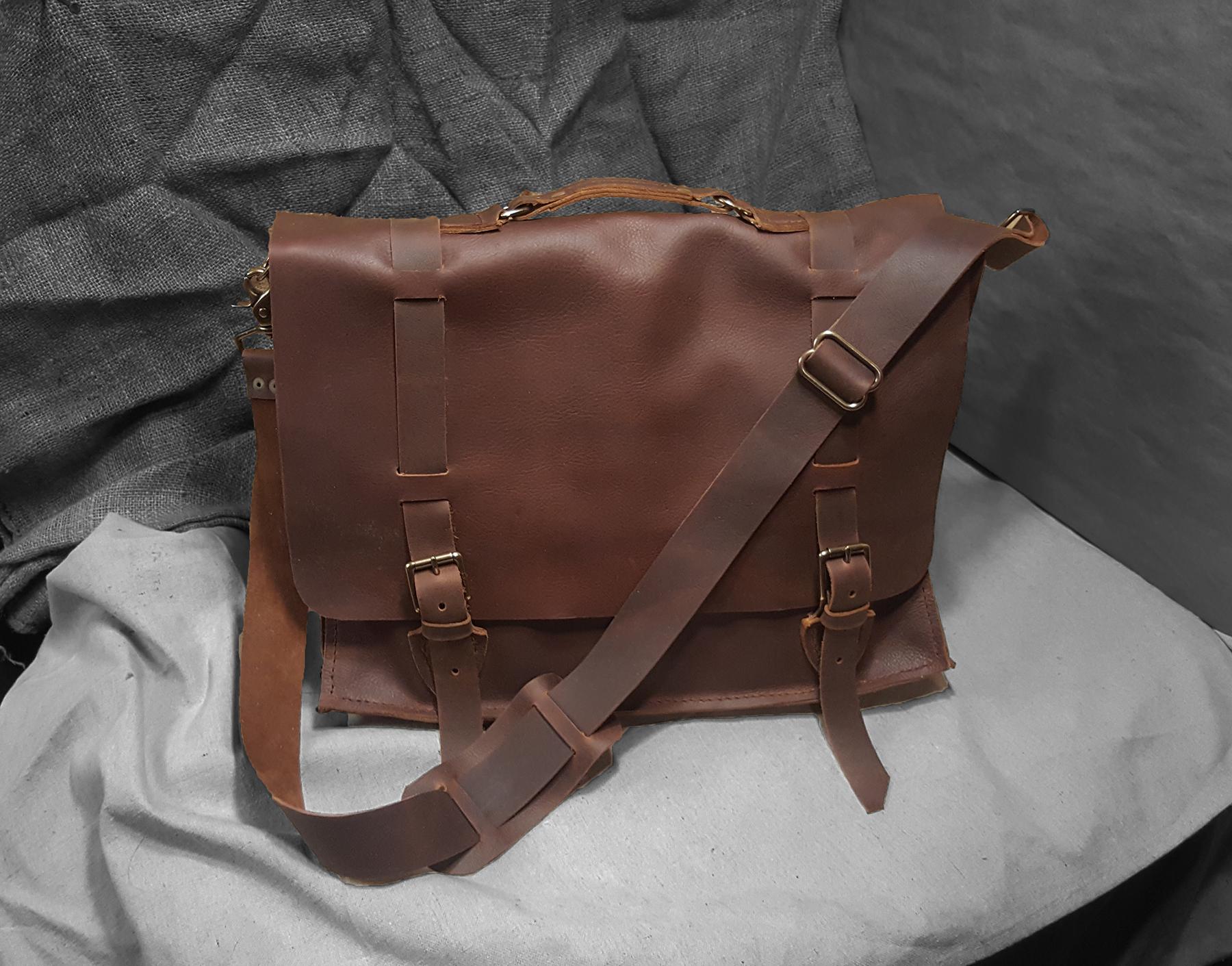 Custom leather side bag. 2016
