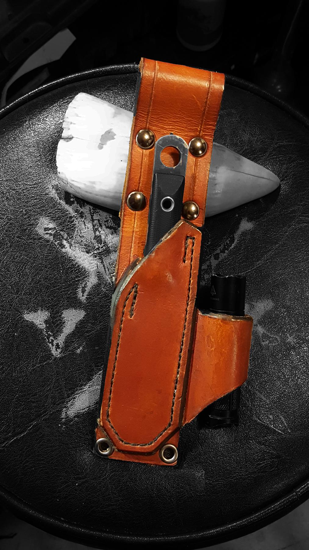 Custom leather EDC sheath. 2016