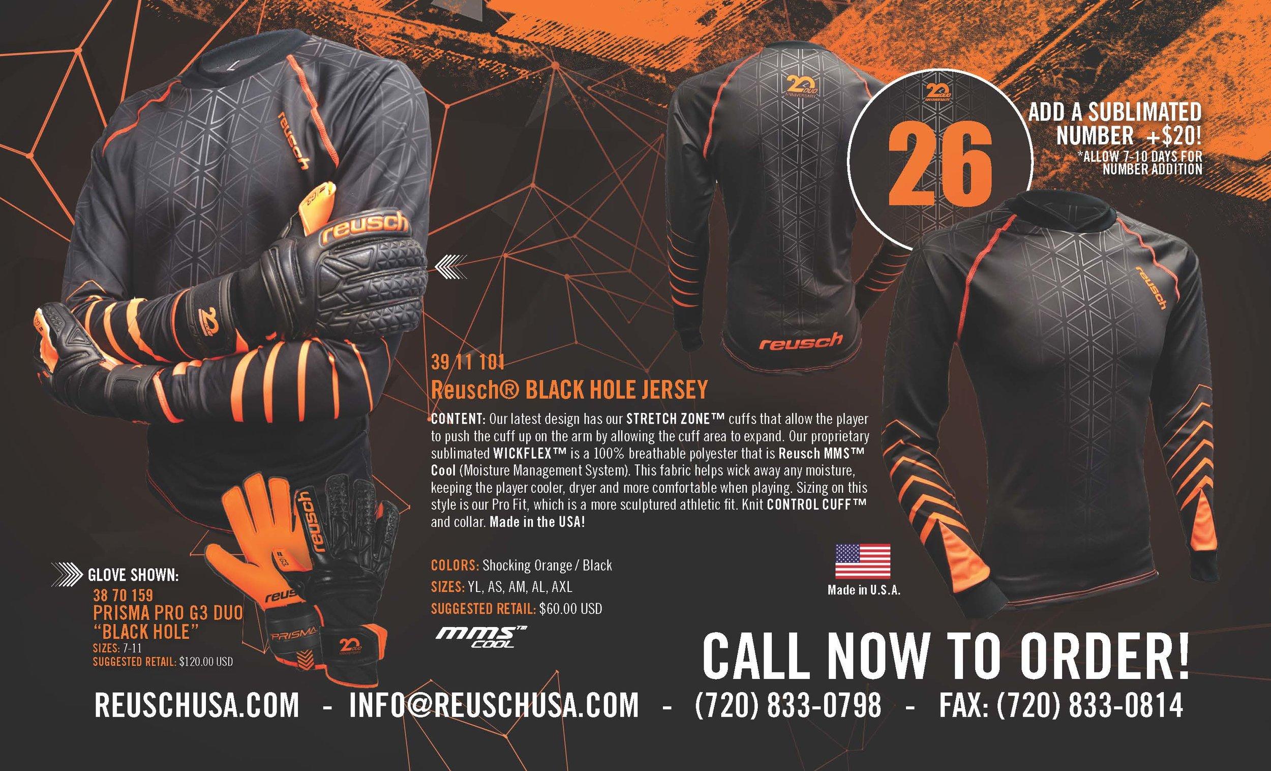 Reusch USA - BlackHole Jersey Release Flyer 2018