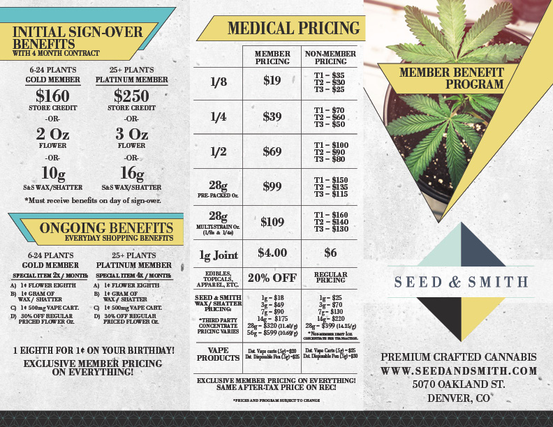 Seed & Smith - Member Brochure (Outside). 2018
