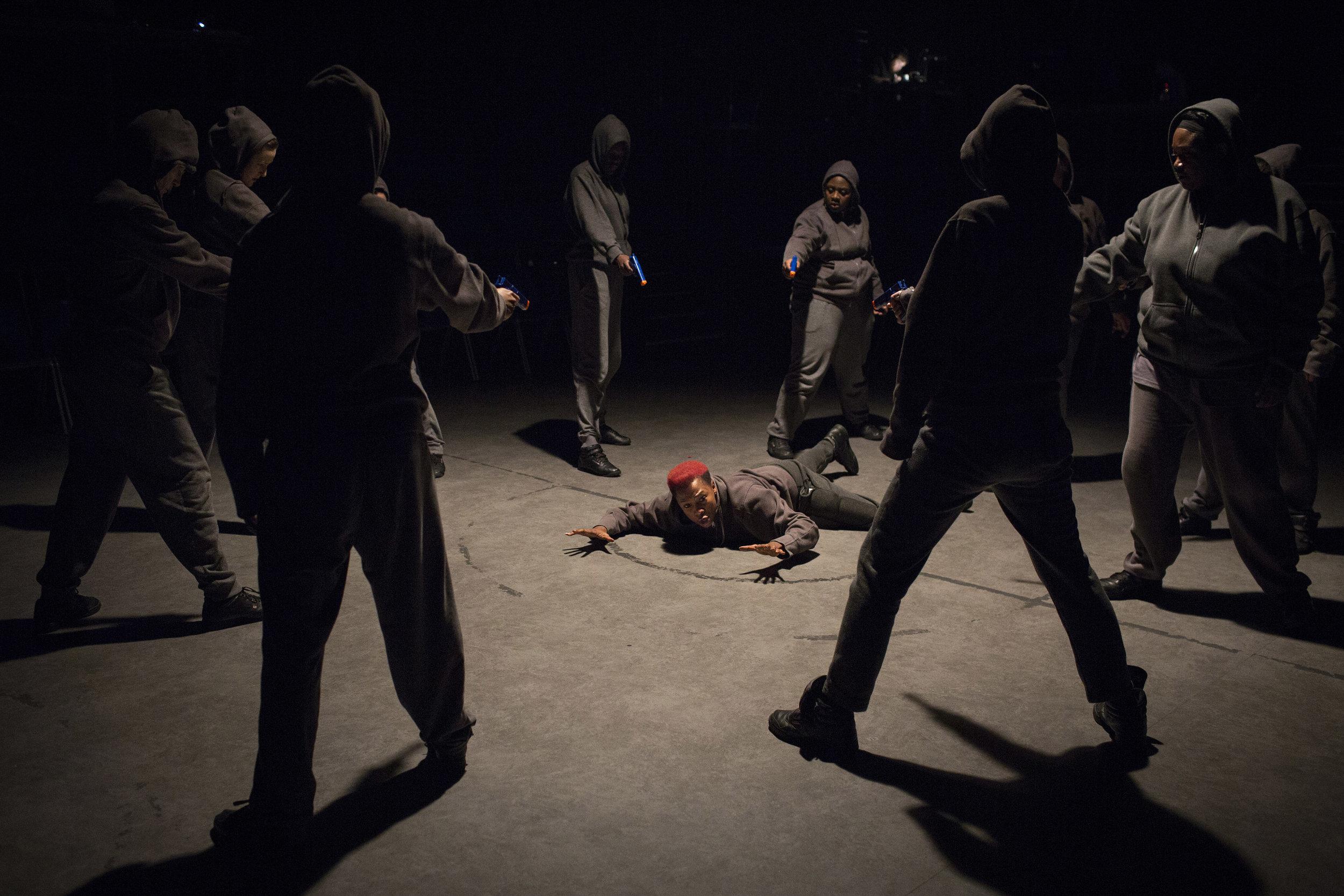Jade Anouka (Mark Antony) and Company in Julius Caesar - Photo by Helen Maybanks copy.jpg