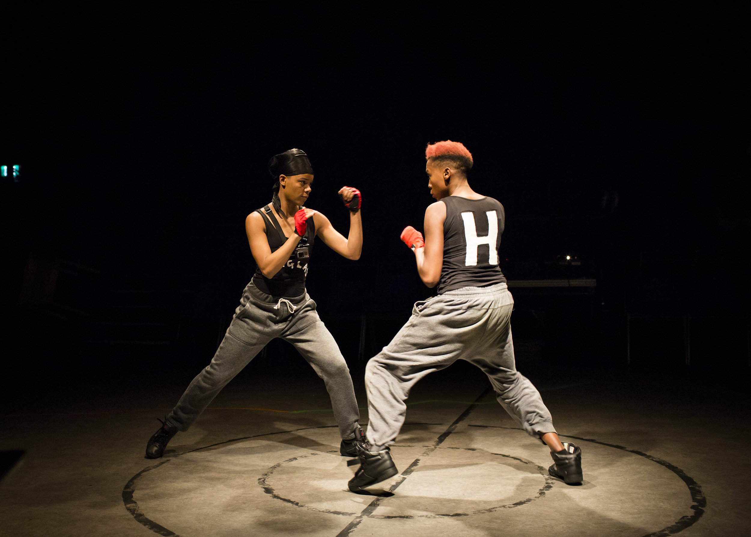 Leah Harvey (The Douglas) and Jade Anouka (Hotspur) in Henry IV - Photo ... copy.jpg
