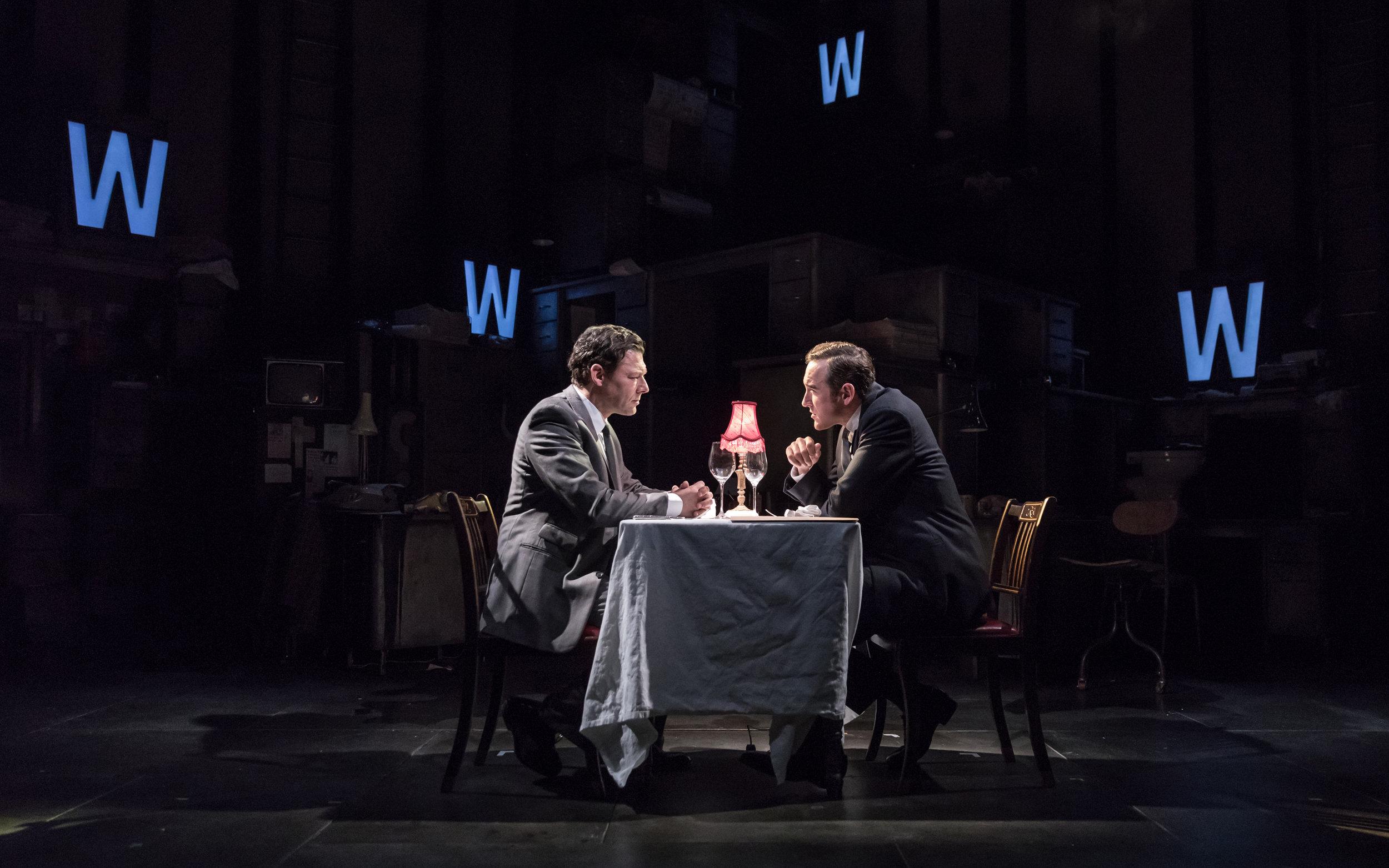 Richard Coyle (Larry Lamb) and Bertie Carvel (Rupert Murdoch)_credit Marc Brenner.jpg