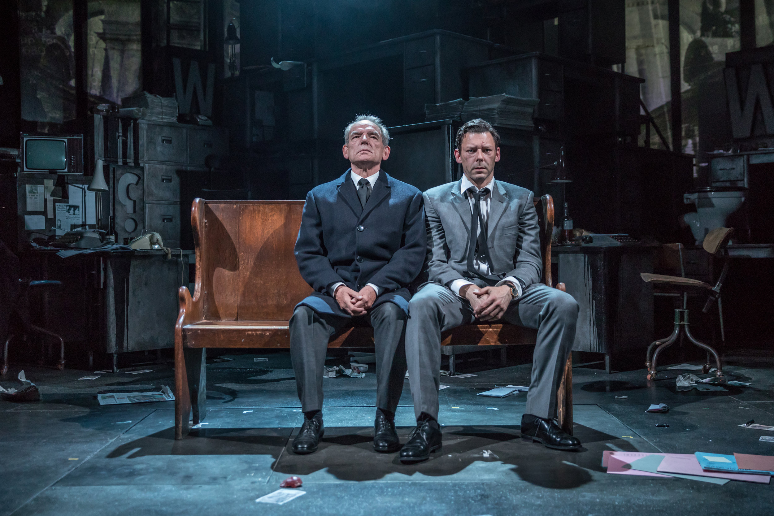 David Schofield (Hugh Cudlipp) and Richard Coyle (Larry Lamb)_credit Marc Brenner.jpg