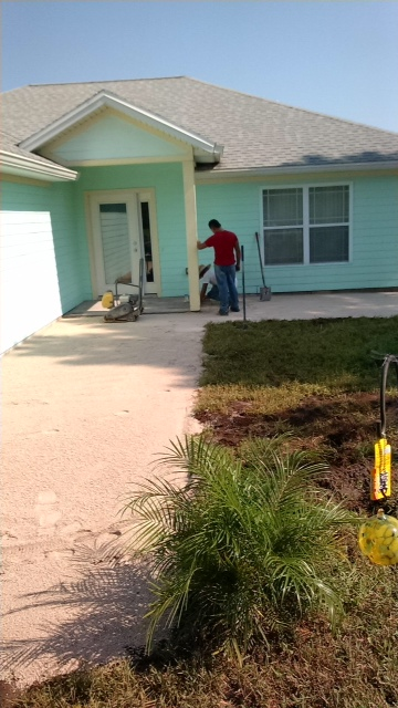 Outdoor paver project -  before