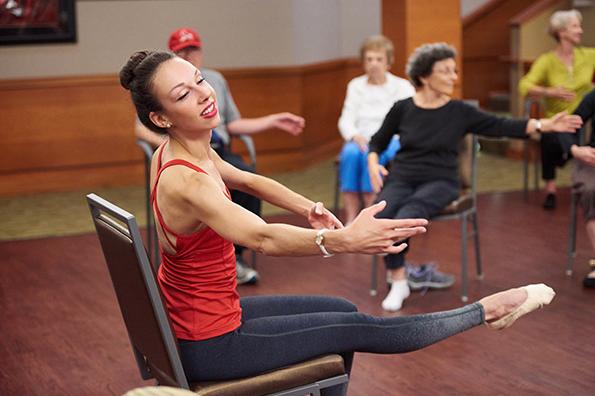 Woods teaching Vitality Ballet. Pratt + Kreidich Photography via Dance-Teacher