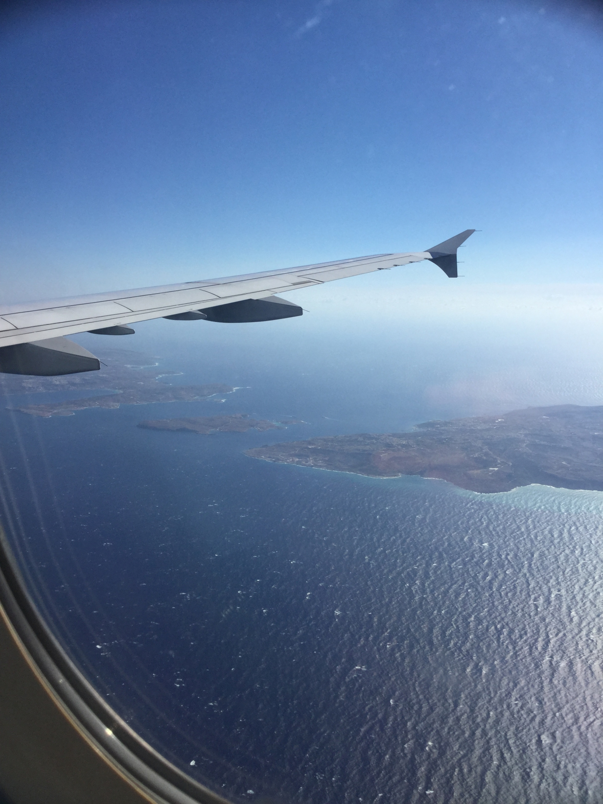 View of Malta from the plane