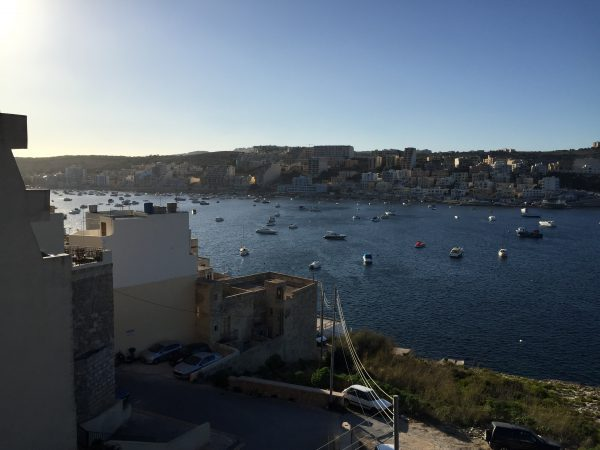 St. Paul's Bay – view from our flat
