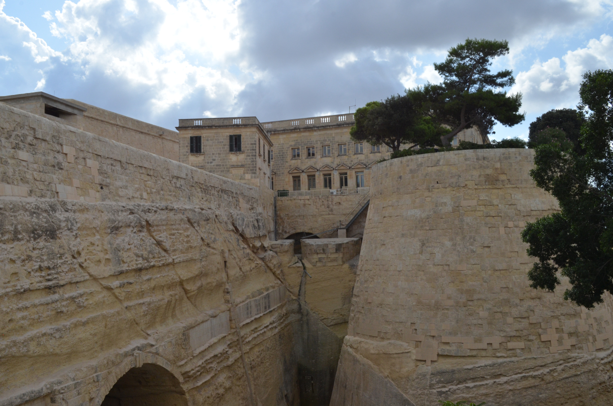 Outer wall of Valletta – It's clear to see why it's called the Fortress City