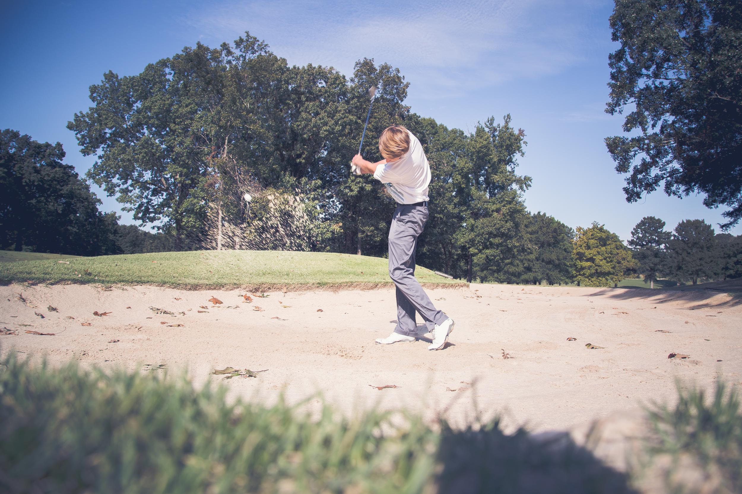 golf senior pictures