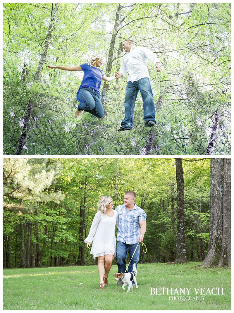 jumping engagement pictures