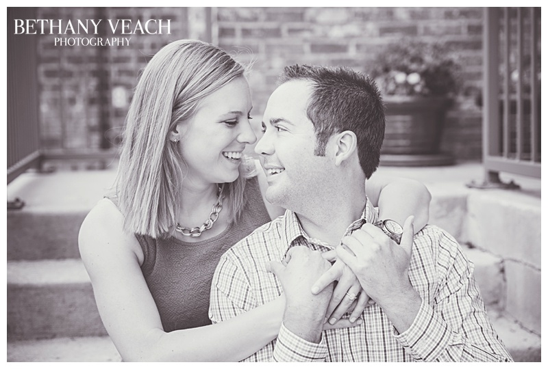 sweet engaged couple posing for portraits in memphis