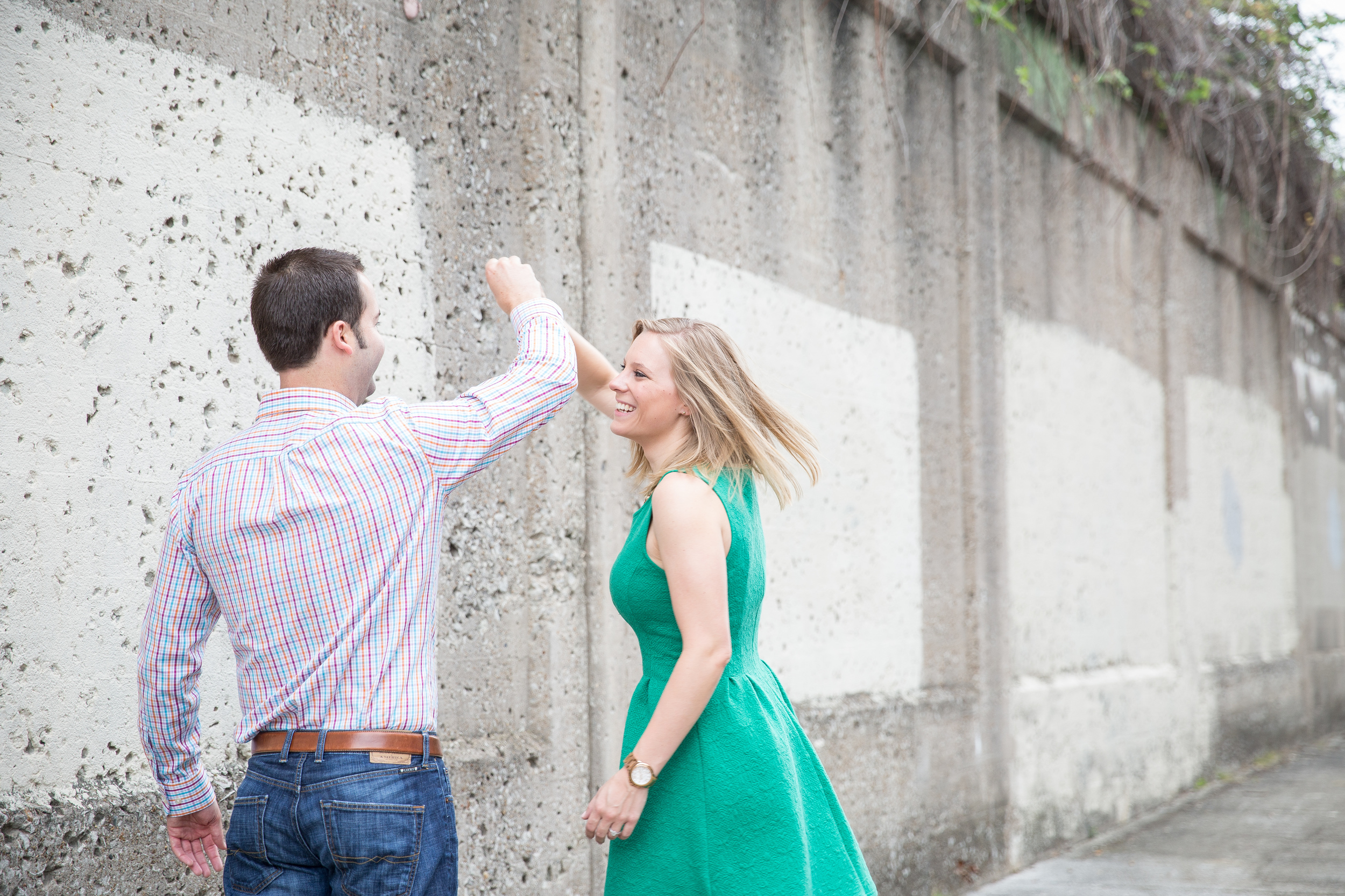 downtown memphis engagement session