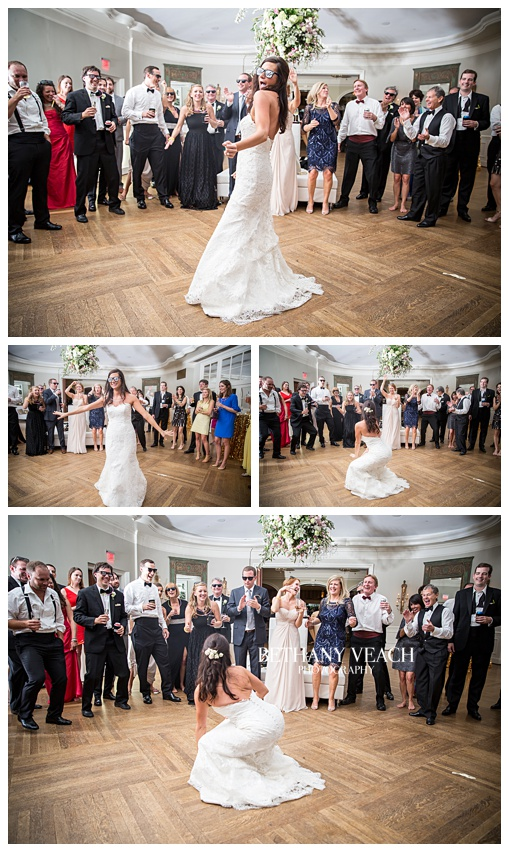 bride dances at reception