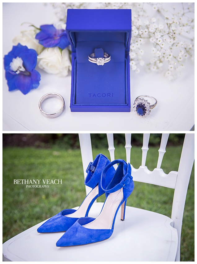 Blue Suede Shoes and Tacori Ring