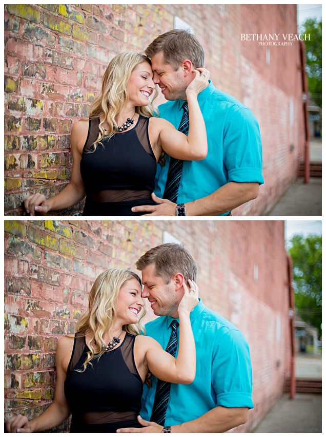 downtown collierville engagement session