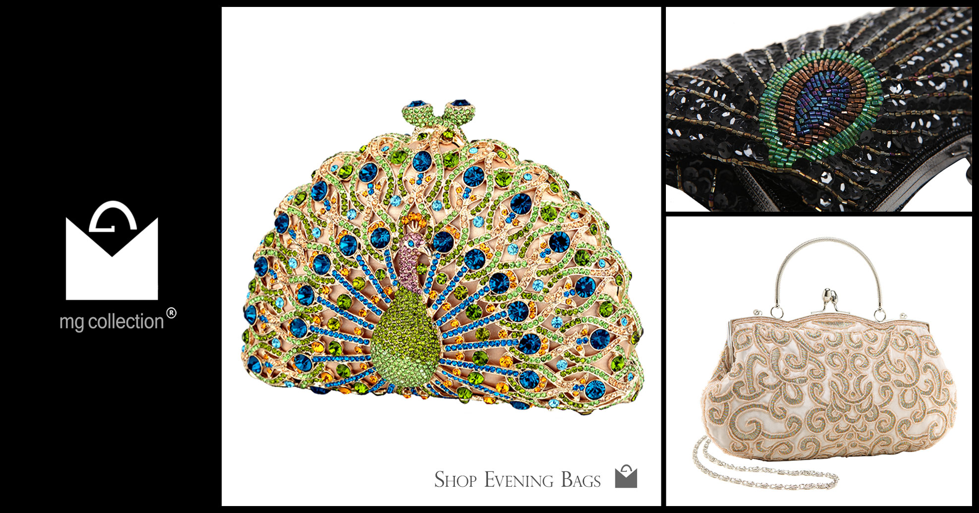 Evening Bags Homepage link gallery MG Collection
