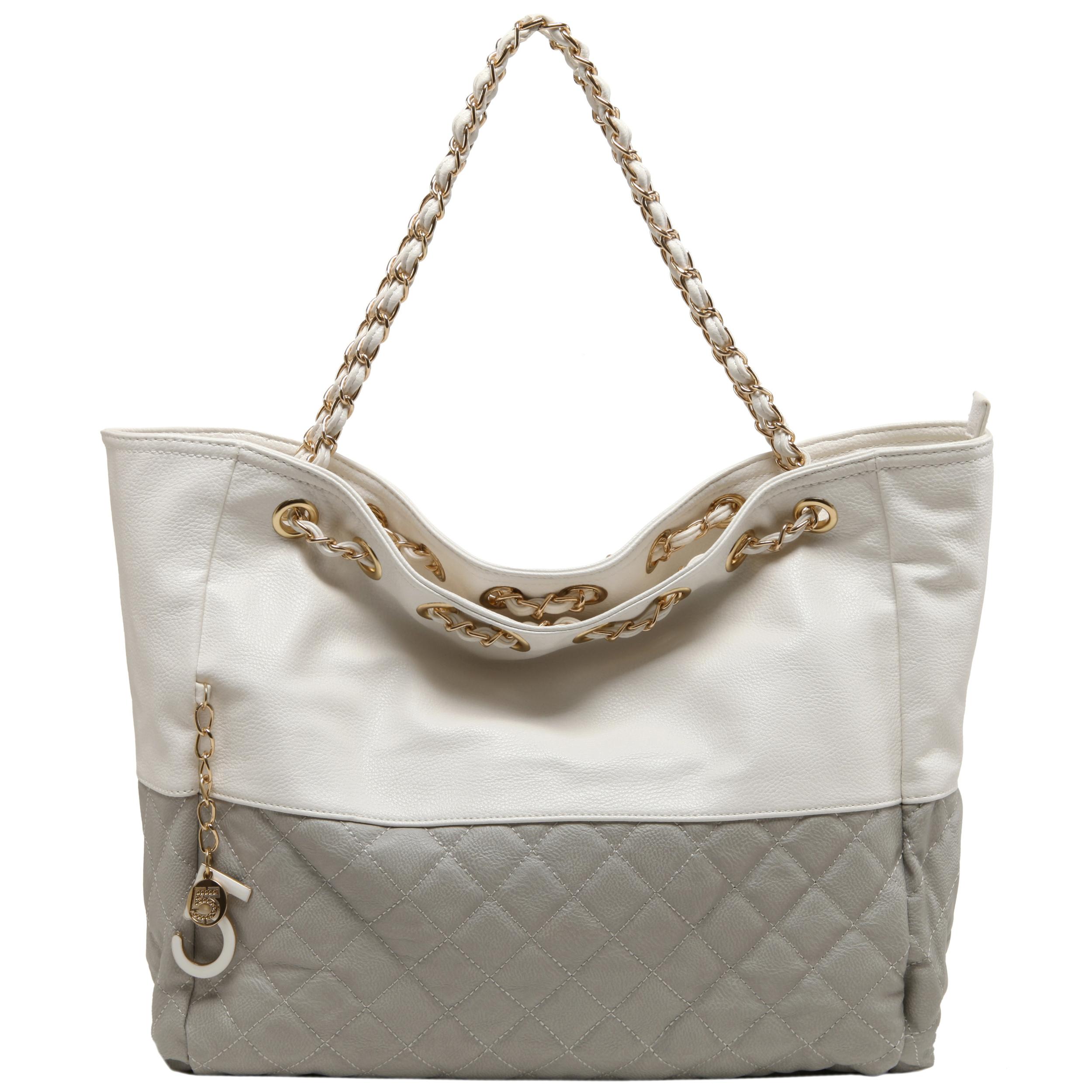 CAMRYN Grey Shoulder Tote Handbag Front
